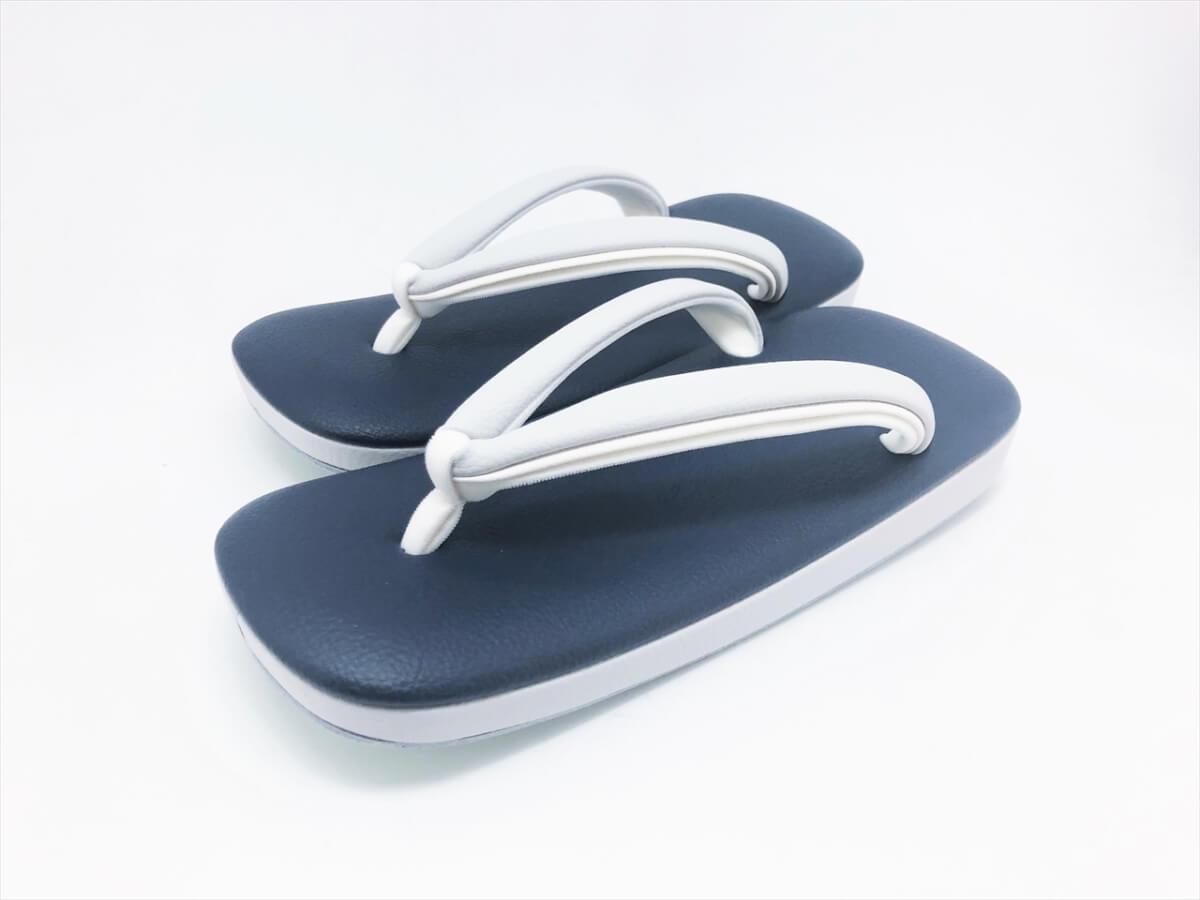 [男物]伝統色 草履 「シボン-SIBON-」(L) 紺